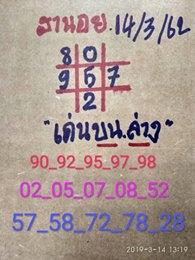 เพจหวยฮานอย 14/3/62 9