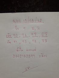 ชุดเด็ดหวยฮานอย 15/3/62 5