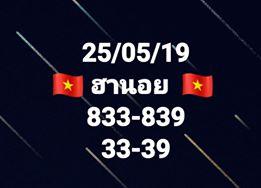 หวยฮานอยลุ้นโชค 25/5/62 2