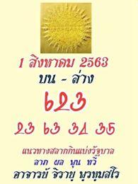 หวยสายวัดป่า 1/8/63
