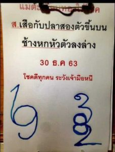 หวยกุมารทองให้โชค 30/12/63
