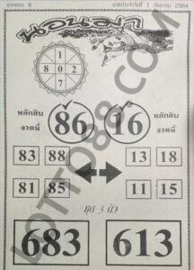 หวยนอนมา 1/9/64